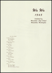 Page 5, 1945 Edition, Wenatchee High School - Wa Wa Yearbook (Wenatchee, WA) online yearbook collection