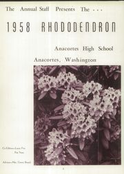 Page 6, 1958 Edition, Anacortes High School - Rhododendron Yearbook (Anacortes, WA) online yearbook collection