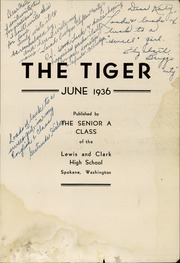 Page 7, 1936 Edition, Lewis and Clark High School - Tiger Yearbook (Spokane, WA) online yearbook collection