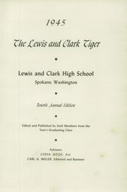Page 5, 1945 Edition, Lewis and Clark High School - Tiger Yearbook (Spokane, WA) online yearbook collection