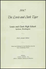 Page 5, 1947 Edition, Lewis and Clark High School - Tiger Yearbook (Spokane, WA) online yearbook collection