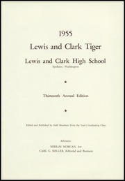 Page 5, 1955 Edition, Lewis and Clark High School - Tiger Yearbook (Spokane, WA) online yearbook collection