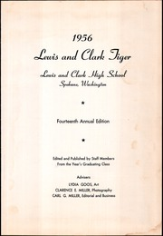 Page 5, 1956 Edition, Lewis and Clark High School - Tiger Yearbook (Spokane, WA) online yearbook collection