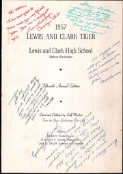 Page 5, 1957 Edition, Lewis and Clark High School - Tiger Yearbook (Spokane, WA) online yearbook collection