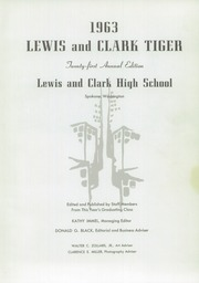 Page 5, 1963 Edition, Lewis and Clark High School - Tiger Yearbook (Spokane, WA) online yearbook collection