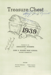 Page 7, 1939 Edition, Rogers High School - Treasure Chest Yearbook (Spokane, WA) online yearbook collection