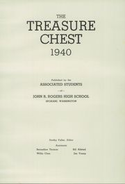 Page 7, 1940 Edition, Rogers High School - Treasure Chest Yearbook (Spokane, WA) online yearbook collection