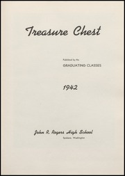 Page 7, 1942 Edition, Rogers High School - Treasure Chest Yearbook (Spokane, WA) online yearbook collection