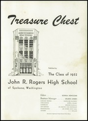 Page 5, 1952 Edition, Rogers High School - Treasure Chest Yearbook (Spokane, WA) online yearbook collection