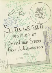 Page 7, 1950 Edition, Pasco High School - Sinewesah Yearbook (Pasco, WA) online yearbook collection