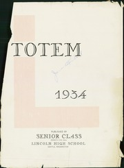 Page 3, 1934 Edition, Lincoln High School - Totem Yearbook (Seattle, WA) online yearbook collection