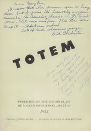 Page 7, 1944 Edition, Lincoln High School - Totem Yearbook (Seattle, WA) online yearbook collection