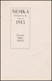 Page 7, 1915 Edition, Everett High School - Nesika Yearbook (Everett, WA) online yearbook collection