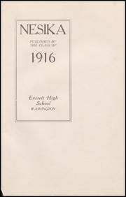 Page 5, 1916 Edition, Everett High School - Nesika Yearbook (Everett, WA) online yearbook collection