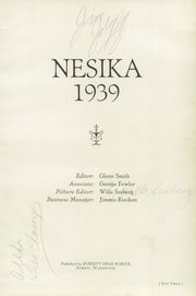 Page 7, 1939 Edition, Everett High School - Nesika Yearbook (Everett, WA) online yearbook collection