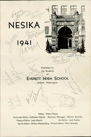 Page 5, 1941 Edition, Everett High School - Nesika Yearbook (Everett, WA) online yearbook collection
