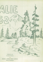 Page 7, 1952 Edition, Shelton High School - Saghalie Yearbook (Shelton, WA) online yearbook collection