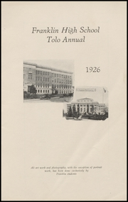 Page 7, 1926 Edition, Franklin High School - Tolo Yearbook (Seattle, WA) online yearbook collection