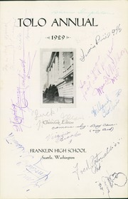 Page 7, 1929 Edition, Franklin High School - Tolo Yearbook (Seattle, WA) online yearbook collection
