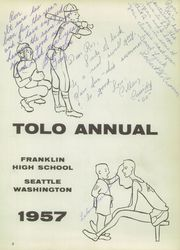 Page 7, 1957 Edition, Franklin High School - Tolo Yearbook (Seattle, WA) online yearbook collection