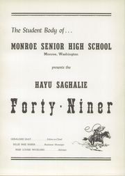 Page 5, 1949 Edition, Monroe High School - Hayu Saghalie Yearbook (Monroe, WA) online yearbook collection