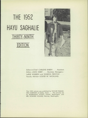 Page 9, 1952 Edition, Monroe High School - Hayu Saghalie Yearbook (Monroe, WA) online yearbook collection