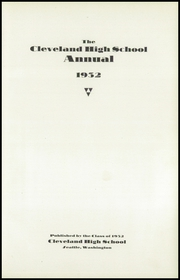 Page 7, 1932 Edition, Cleveland High School - Aquila Yearbook (Seattle, WA) online yearbook collection