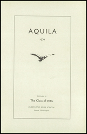 Page 7, 1934 Edition, Cleveland High School - Aquila Yearbook (Seattle, WA) online yearbook collection