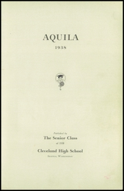Page 5, 1938 Edition, Cleveland High School - Aquila Yearbook (Seattle, WA) online yearbook collection