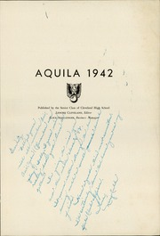 Page 5, 1942 Edition, Cleveland High School - Aquila Yearbook (Seattle, WA) online yearbook collection