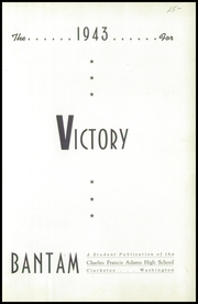 Page 5, 1943 Edition, Charles Francis Adams High School - Bantam Yearbook (Clarkston, WA) online yearbook collection