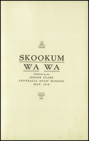Page 5, 1915 Edition, Centralia High School - Skookum Wa Wa Yearbook (Centralia, WA) online yearbook collection
