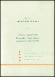 Page 7, 1944 Edition, Centralia High School - Skookum Wa Wa Yearbook (Centralia, WA) online yearbook collection