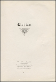 Page 7, 1919 Edition, Ellensburg High School - Klahiam Yearbook (Ellensburg, WA) online yearbook collection