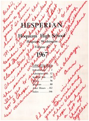 Page 5, 1967 Edition, Hoquiam High School - Hesperian Yearbook (Hoquiam, WA) online yearbook collection