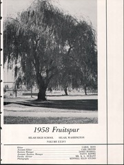 Page 7, 1958 Edition, Selah High School - Fruitspur Yearbook (Selah, WA) online yearbook collection