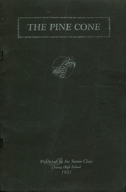 1931 Edition, Cheney High School - Pine Cone Yearbook (Cheney, WA)