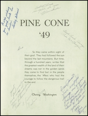 Page 7, 1949 Edition, Cheney High School - Pine Cone Yearbook (Cheney, WA) online yearbook collection
