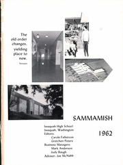Page 7, 1962 Edition, Issaquah High School - Sammamish Yearbook (Issaquah, WA) online yearbook collection