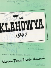 Page 7, 1947 Edition, Clover Park High School - Klahowya Yearbook (Tacoma, WA) online yearbook collection
