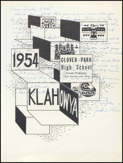 Page 5, 1954 Edition, Clover Park High School - Klahowya Yearbook (Tacoma, WA) online yearbook collection