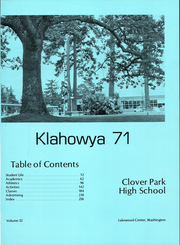 Page 5, 1971 Edition, Clover Park High School - Klahowya Yearbook (Tacoma, WA) online yearbook collection