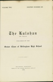 Page 13, 1906 Edition, Bellingham High School - Shuksan Yearbook (Bellingham, WA) online yearbook collection