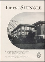 Page 8, 1948 Edition, Ballard High School - Shingle Yearbook (Seattle, WA) online yearbook collection
