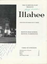 Page 7, 1963 Edition, Renton High School - Illahee Yearbook (Renton, WA) online yearbook collection