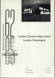 Page 5, 1962 Edition, Lynden Christian School - Excelsior Yearbook (Lynden, WA) online yearbook collection