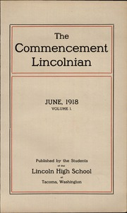 Page 11, 1918 Edition, Lincoln High School - Lincolnian Yearbook (Tacoma, WA) online yearbook collection
