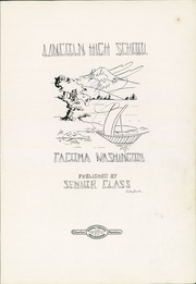 Page 7, 1929 Edition, Lincoln High School - Lincolnian Yearbook (Tacoma, WA) online yearbook collection