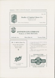 Page 134, 1930 Edition, Lincoln High School - Lincolnian Yearbook (Tacoma, WA) online yearbook collection