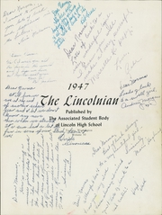 Page 5, 1947 Edition, Lincoln High School - Lincolnian Yearbook (Tacoma, WA) online yearbook collection